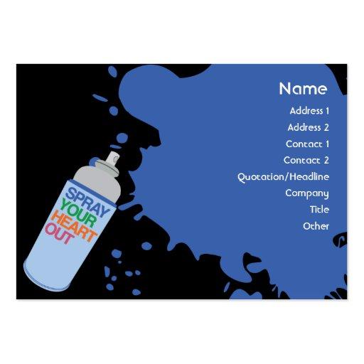 Spray - Chubby Business Card Templates