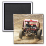 Spray Dirt! ATV Dunebuggy spins out 2 Inch Square Magnet