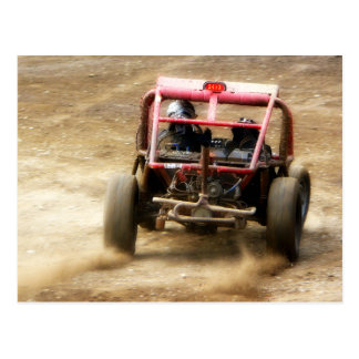 Spray Dirt! ATV Dunebuggy spins out Postcard