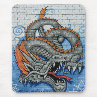 Spray Dragon Mouse Pad