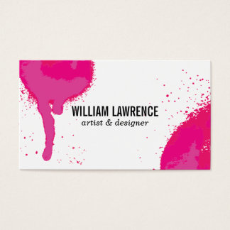 Spray   Expressive (hot pink) Business Card