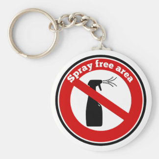 Spray free area sign keychain