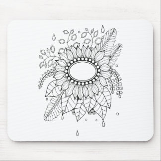 Spray Line Art Design Mouse Pad