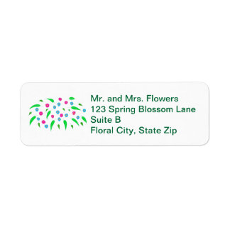 Spray of Colorful Flowers Return Address Labels
