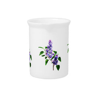 Spray of Lilacs Drink Pitcher