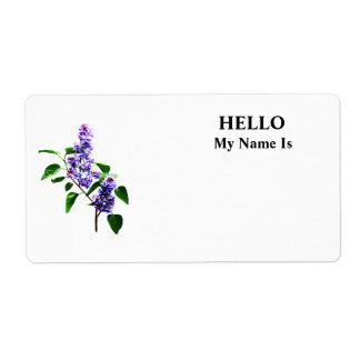 Spray of Lilacs Label
