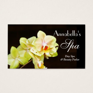 Spray of Orchids Day Spa Business Card