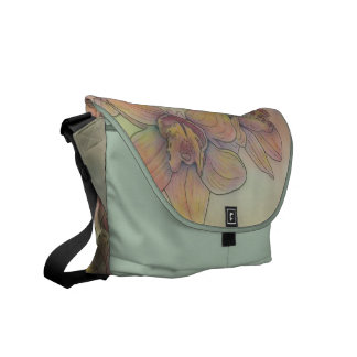 Spray of Orchids Messenger Bags