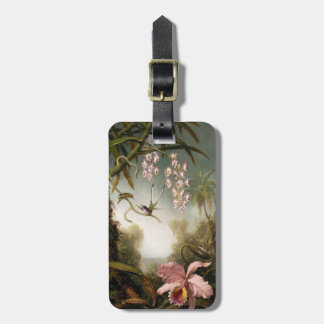 Spray Orchids with Hummingbird Luggage Tag