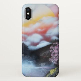 Spray paint art cherry tree iPhone x case