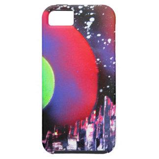 Spray Paint Art City Space Landscape Painting iPhone SE/5/5s Case