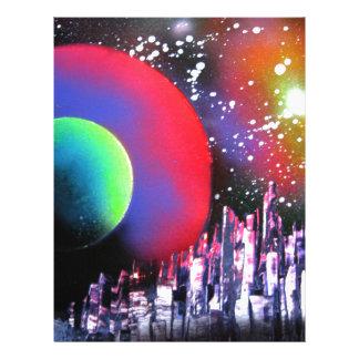 Spray Paint Art City Space Landscape Painting Letterhead