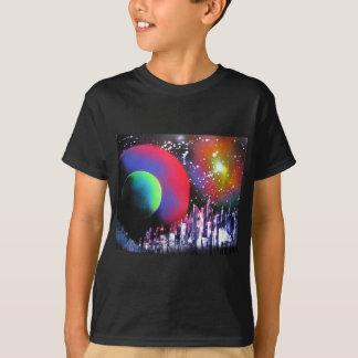 Spray Paint Art City Space Landscape Painting T-Shirt