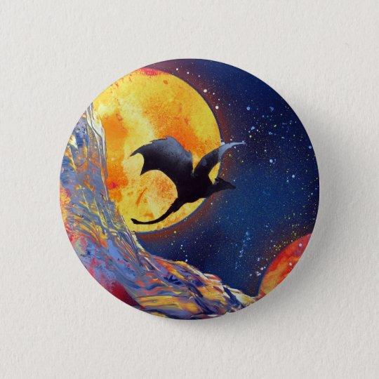 Spray Paint Art Fantasy Dragon Outer Space Button