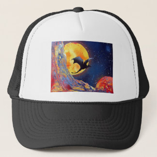 Spray Paint Art Fantasy Dragon Outer Space Trucker Hat