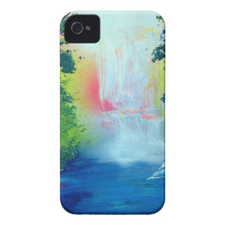 Spray Paint Art Forest Waterfall Sunset Painting Case-Mate iPhone 4 Case