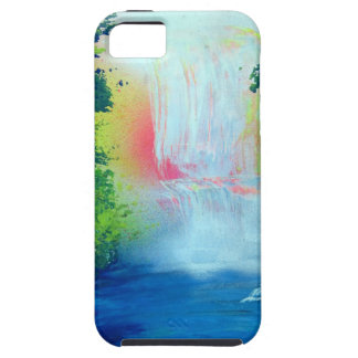 Spray Paint Art Forest Waterfall Sunset Painting iPhone SE/5/5s Case