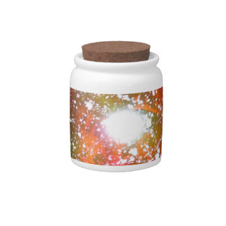 Spray Paint Art Night Sky Space Painting Candy Dish