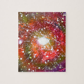 Spray Paint Art Night Sky Space Painting Jigsaw Puzzle
