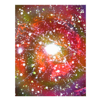 Spray Paint Art Night Sky Space Painting Letterhead