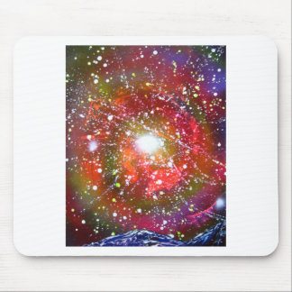Spray Paint Art Night Sky Space Painting Mouse Pad