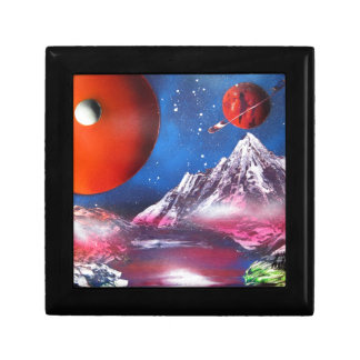 Spray Paint Art Outer Space Planets Scene Gift Box