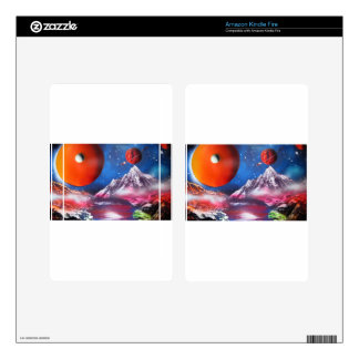 Spray Paint Art Outer Space Planets Scene Kindle Fire Decal