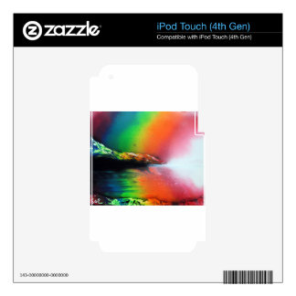 Spray Paint art Rainbow Landscape Painting Decal For iPod Touch 4G