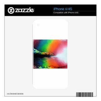 Spray Paint art Rainbow Landscape Painting iPhone 4 Decal