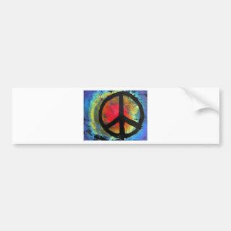 Spray Paint Art Rainbow Peace Sign Painting Bumper Sticker