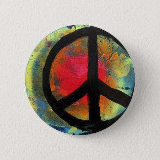 Spray Paint Art Rainbow Peace Sign Painting Button