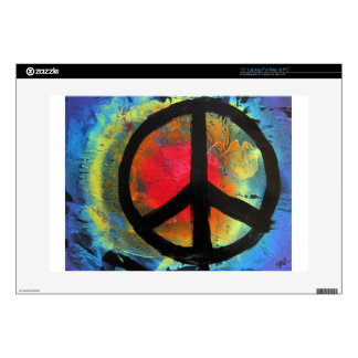 Spray Paint Art Rainbow Peace Sign Painting Decal For Laptop