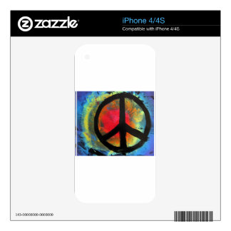 Spray Paint Art Rainbow Peace Sign Painting Decal For The iPhone 4S