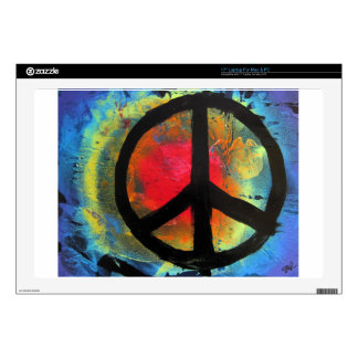 Spray Paint Art Rainbow Peace Sign Painting Decals For Laptops