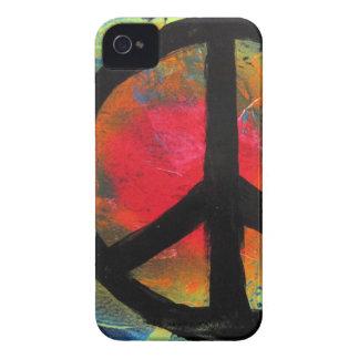 Spray Paint Art Rainbow Peace Sign Painting iPhone 4 Cover