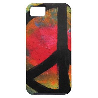 Spray Paint Art Rainbow Peace Sign Painting iPhone SE/5/5s Case