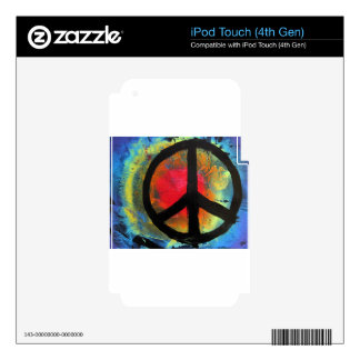 Spray Paint Art Rainbow Peace Sign Painting iPod Touch 4G Decals