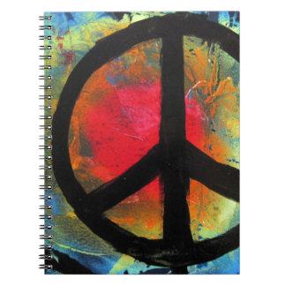 Spray Paint Art Rainbow Peace Sign Painting Notebook