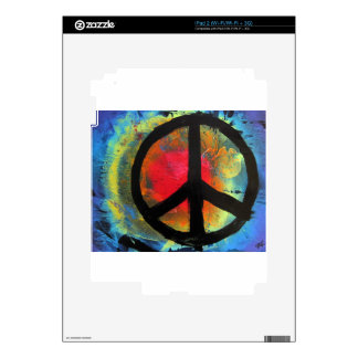 Spray Paint Art Rainbow Peace Sign Painting Skin For The iPad 2
