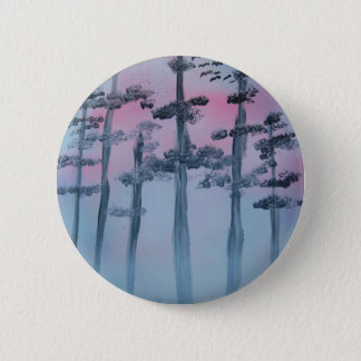 Spray Paint Art Sky and Trees Button