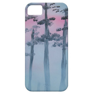 Spray Paint Art Sky and Trees iPhone SE/5/5s Case