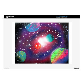 """Spray Paint Art Space Galaxy Painting 15"""" Laptop Skins"""
