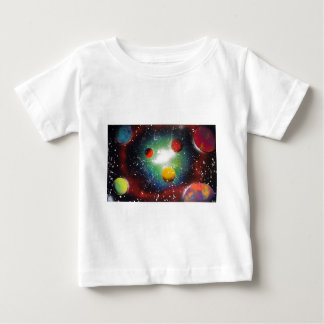 Spray Paint Art Space Galaxy Painting Baby T-Shirt