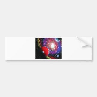 Spray Paint Art Space Galaxy Painting Bumper Sticker