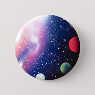 Spray Paint Art Space Galaxy Painting Button
