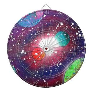 Spray Paint Art Space Galaxy Painting Dart Board