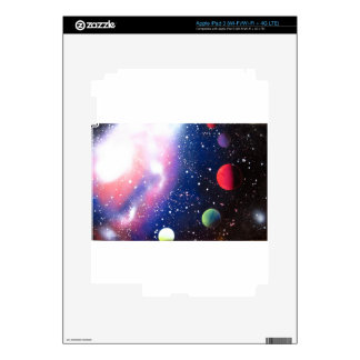Spray Paint Art Space Galaxy Painting Decal For iPad 3