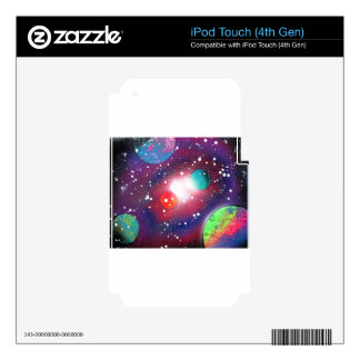 Spray Paint Art Space Galaxy Painting Decals For iPod Touch 4G