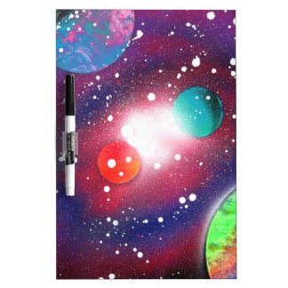 Spray Paint Art Space Galaxy Painting Dry-Erase Board