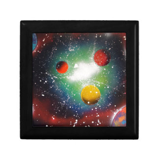 Spray Paint Art Space Galaxy Painting Keepsake Box